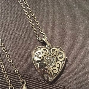Brighton Memory Heart Locket Pendant Necklace NEW